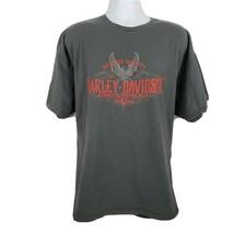 Harley Davidson Valparaiso Motorcycle T-shirt Size 2XL Gray - $26.72