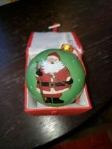 """LI BIEN"" 3 Santa Scenes Reverse Inside Painting Glass Christmas Ornamen... - $19.80"
