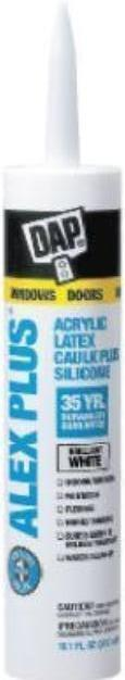 Clear Adhesive caulk DAP 10.1 oz cartridge, Alex Plus