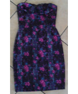 NWT BETSEY JOHNSON Floral Purple Pencil Dress Size 6 NEW (MAKE AN OFFER) - $156.82