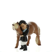 Hagen Renaker Specialty  Horse Girl and Her Pony Ceramic Figurine
