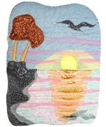 Sunrise Seagull: Quilted Art Wall Hanging - €387,17 EUR