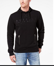 Buffalo David Bitton Men's Faltimo Pullover Hoodie, Black, Size XL - $69.29