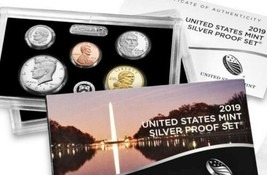 2019 S 10 Coins ( .999 Fine Silver ) Proof Set Complete Box and COA No W penny