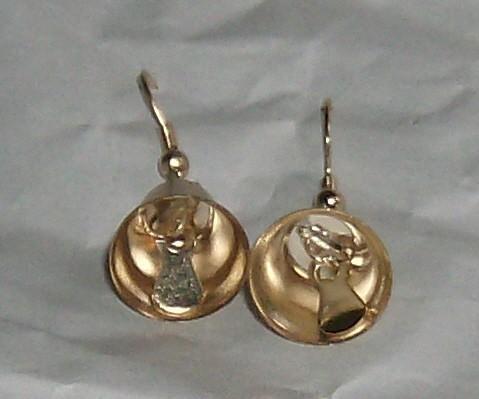 Fun jewelry - little golden bells earrings