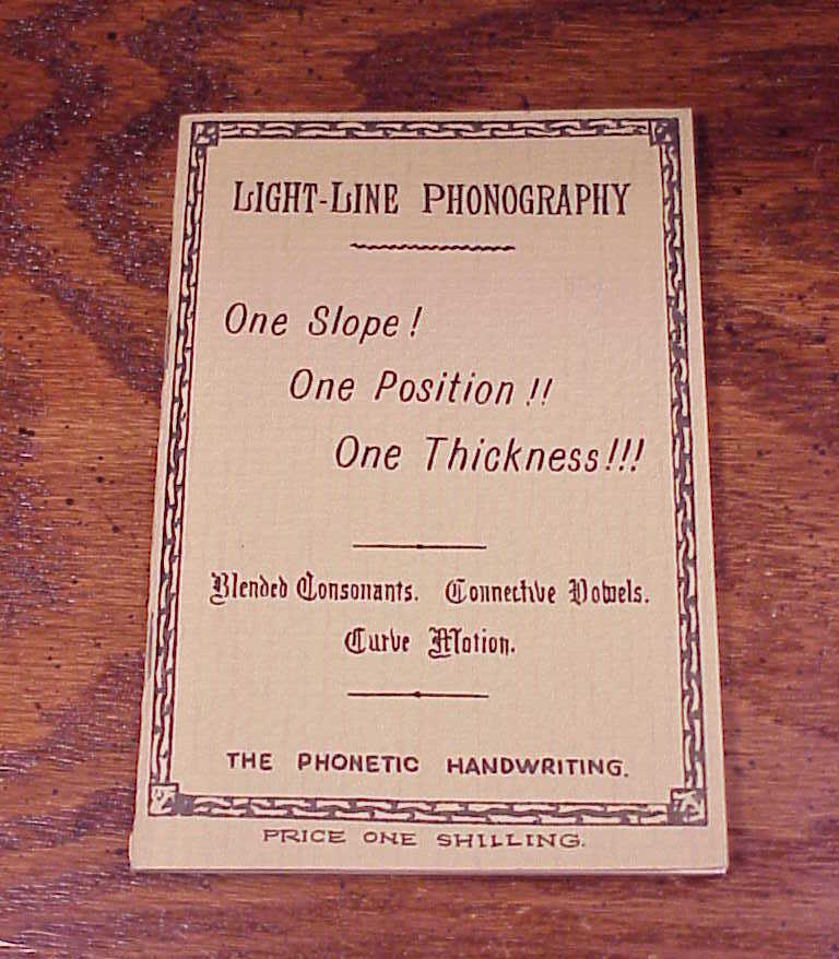 Reprint Light Line Phonography Phonetic Handbook Booklet