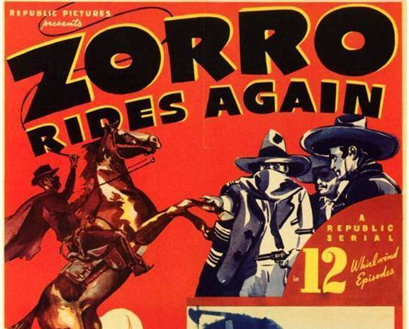 ZORRO RIDES AGAIN, 12 CHAPTER SERIAL, 1937