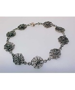 SPIDER WEB Filigree BRACELET in STERLING Silver - 7 inches - FREE SHIPPING - €46,72 EUR
