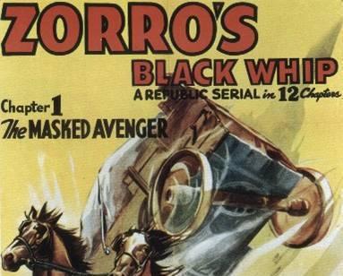 Zorro black whip
