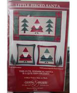 PATTERN:Wall Quilt or Pillows Little Pieced Santa - $6.99