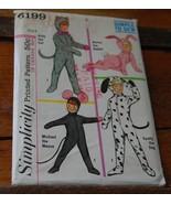 Vintage (used) Child's Animal Costume Pattern 6199 sz 8 - $6.99