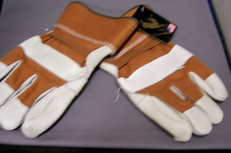 Men's Deerskin Leather Work Gloves Size Large