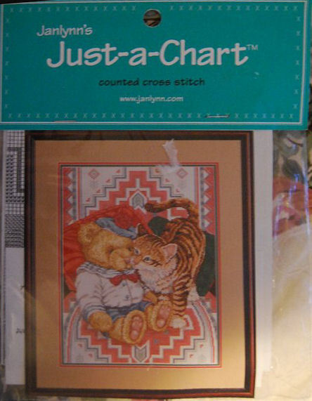 "Counted Cross Stitch Pattern ""American Indian Tabby """