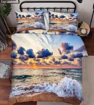 3D Sea Scenery 1 Bed Pillowcases Quilt Duvet Cover Set Single Queen King Size AU - $90.04+