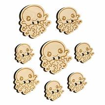 Kawaii Jellyfish Wood Buttons for Sewing Knitting Crochet DIY Craft - Large 1.25 - $9.99