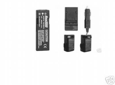 D-LI72 DLI72 D-L172 Battery + Charger Kit for Pentax