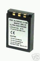 DB-L10 DBL10 DB-L10AU Battery 1200mAh for Sanyo Fisher