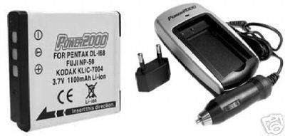 DL168 DL-168 Battery + Charger for Pentax S10 S12 S-10