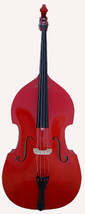 Merano MB400RD 3/4 Size Red Upright String Bass with Bag + Rosin - $899.99