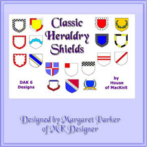 Classic Heraldry Shields Machine Knit DAK or Ha... - $3.00