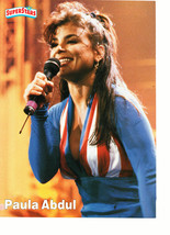 Paula Abdul teen magazine pinup clipping Superstars red white and blue