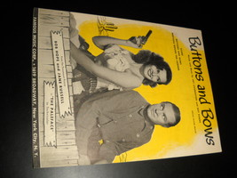 Sheet Music Buttons and Bows from Paleface Bob Hope and Jane Russell 194... - $8.99