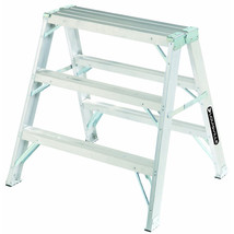 Louisville Ladder 3' Type IA Aluminium Sawhorse Ladder L-2032-03 New   - $114.99