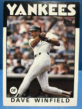 TOPPS BASEBALL CARD #70 , DAVE WINFIELD OF, YANKEES, STATS 1973-85 - $2.99