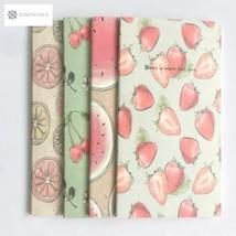 1X Kawaii Cute Fruit Portable 48K Soft Notebook Stationery Diary Sketchb... - $4.70 CAD