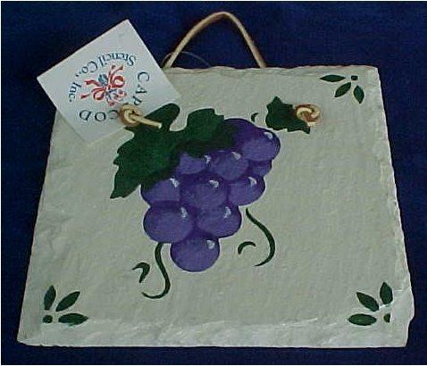 Grapes Wall Plaque - $10.25