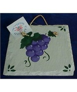 Grapes Wall Plaque - $10.25