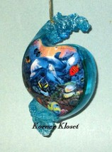 "Bradford Exchange ""Above & Below"" Ornament - ""Mother's Love"" Dolphins - $28.01"