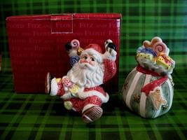 Fitz and Floyd Christmas Sugar Plum Salt Pepper Shakers Set  - $14.95