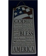 God Bless America Ceramic Wall Plaque Spooner Creek Designs - $19.00