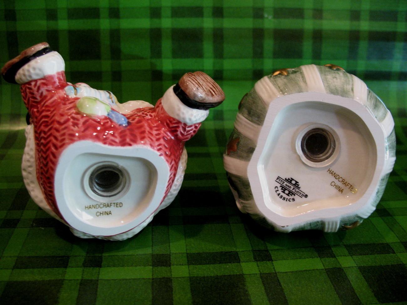 Fitz and Floyd Christmas Sugar Plum Salt Pepper Shakers Set