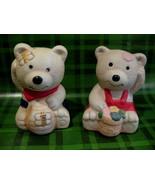 Teddy Bears Bees Honey Pot Salt Pepper Shakers Set Souvenir Vintage Coll... - $7.95