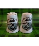 Alaska Alaskan Sled Dogs Salt Pepper Shakers Set Souvenir Vintage Collector - $8.95