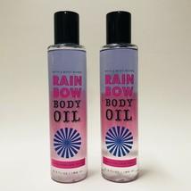 2 Bath & Body Works Marshmallow Magic Rainbow Body Oil 6.2 fl.oz Tri-Phase - $18.76