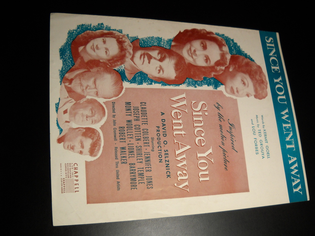 Sheet music since you went away selznick motion picture 1944 chappell  01