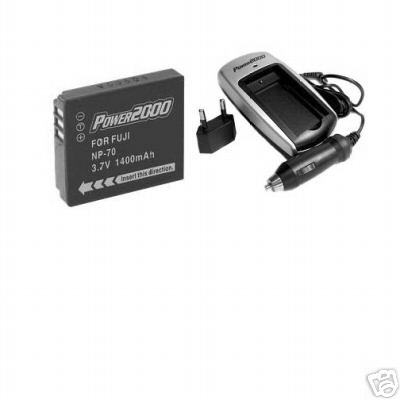 NP-70 NP70 Battery + Charger for Fuji F20 F20SE F40FD F40 Digital Camera