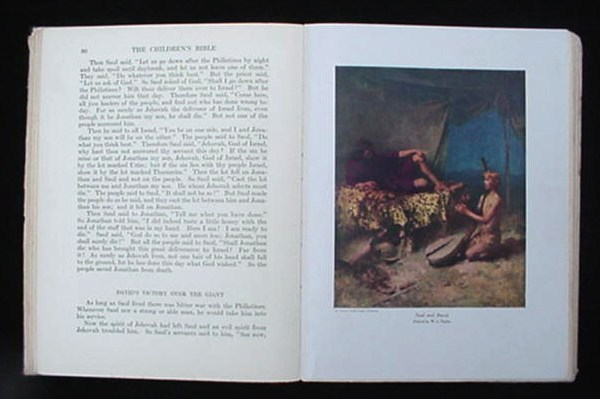 Vintage 1922 The Children's Bible Book Stories Child's Holy
