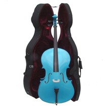 Crystalcello MC150BL 1/2 Size Blue Cello with Case,Bag,Bow - $180.00