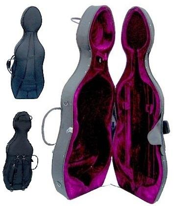 Crystalcello MC150BL 1/2 Size Blue Cello with Case,Bag,Bow