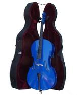 Crystalcello MC150DBL 4/4 Size Blue Cello with Case,Bag,Bow - $369.99