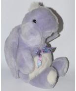 Vtg Baby Gund Soft Purple Turtle Rattle Plush Toy Bow 90s Lovey RARE Nur... - $161.99