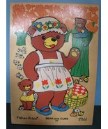Vintage Fisher Price #506 Bears and Cubs Pick Up 'N Peek Wood Puzzle EXC... - $19.99