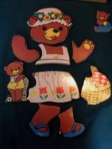 Vintage Fisher Price #506 Bears and Cubs Pick Up 'N Peek Wood Puzzle EXC-EXC++! image 2