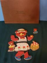 Vintage Fisher Price #506 Bears and Cubs Pick Up 'N Peek Wood Puzzle EXC-EXC++! image 4