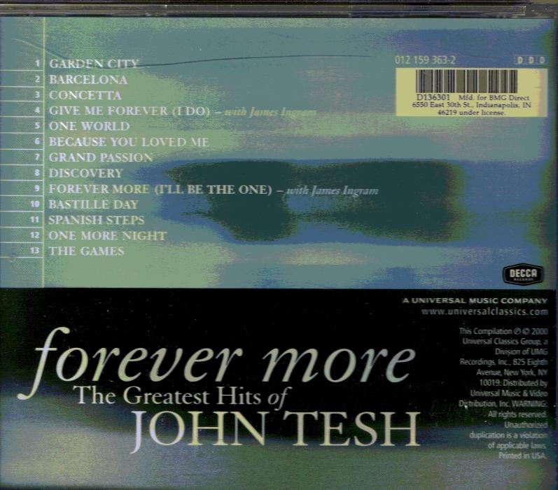 CD John Tesh Forever More Classic Music