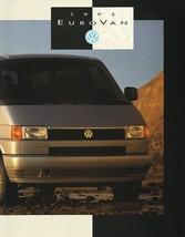 1993 Volkswagen EUROVAN sales brochure catalog 93 VW Multivan - $10.00